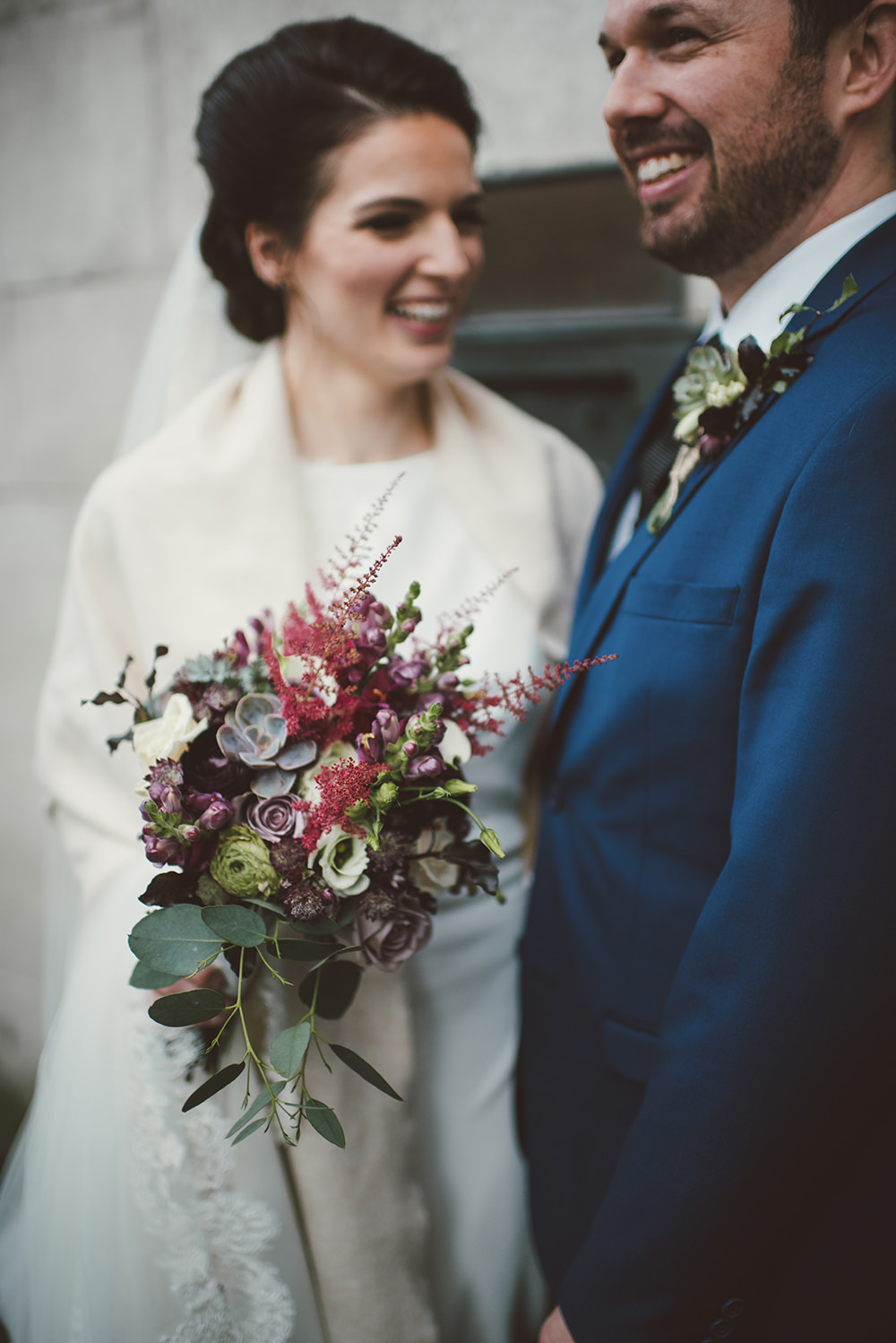 Contemporary winter wedding in dublin with david fielden bridal image by a hrefhttppaulagillespie target ombrellifo Choice Image