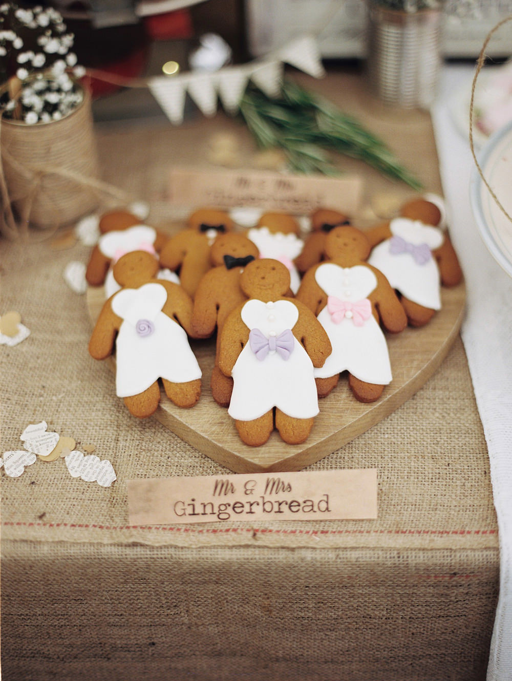 10 ways to have a beautiful budget wedding rock my wedding uk diy gingerbread men for a wedding dessert table junglespirit Gallery