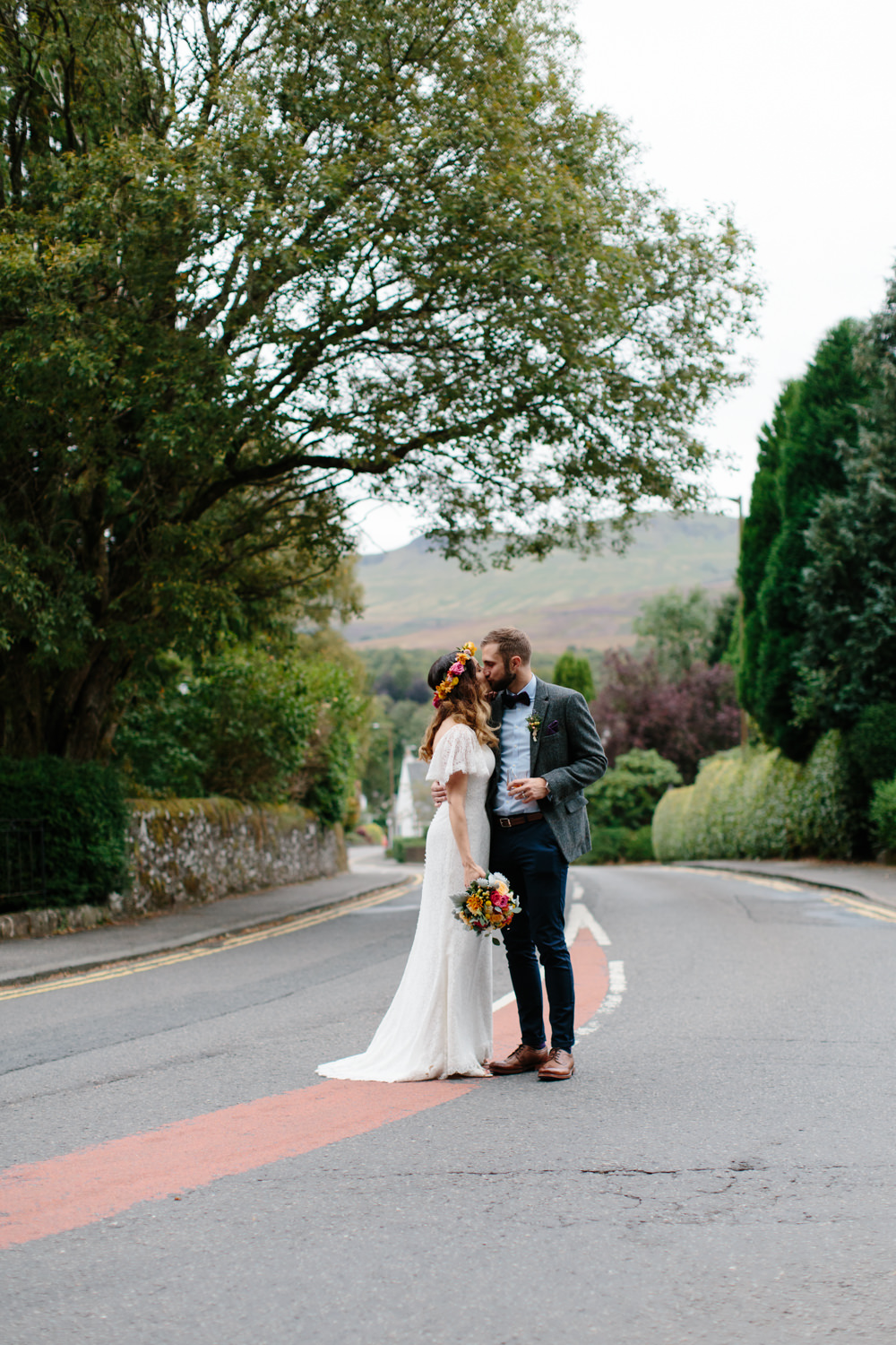 Lace charlotte balbier elodie gown for an outdoor ceremony at image by a ombrellifo Images