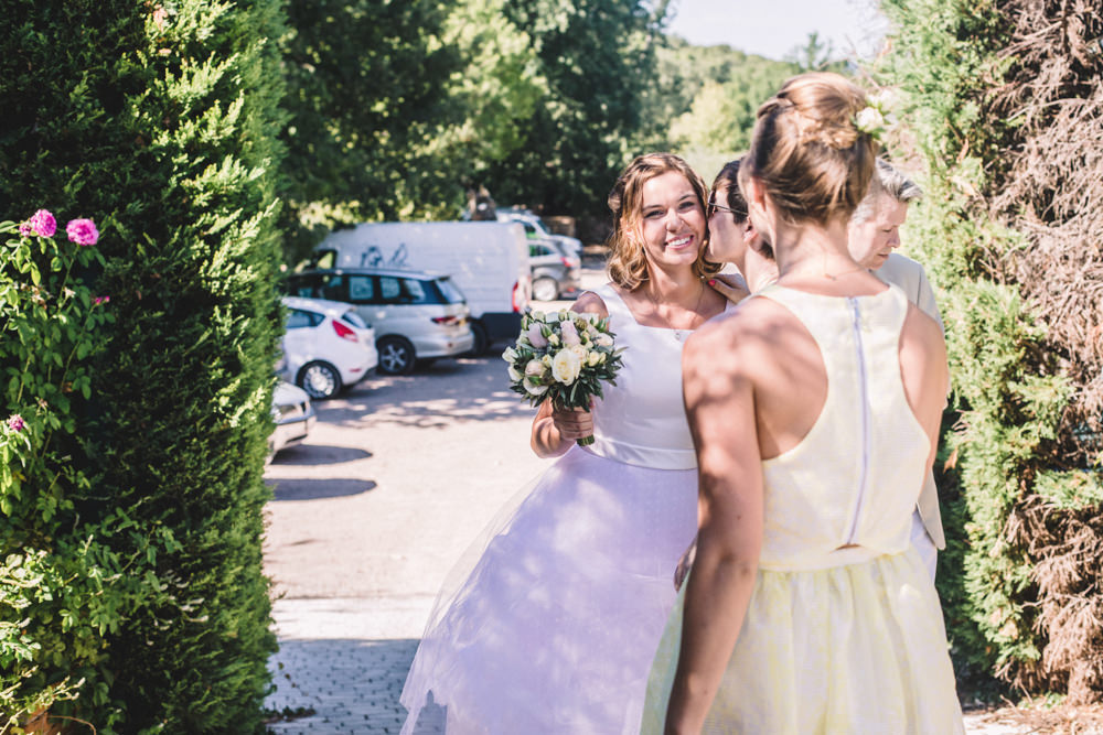 Destination Wedding   Bespoke Short Wedding Dress   Turquoise Paul  Smith Suit   Charlotte hu Photography   http www rockmywedding co uk milly  simon Destination Wedding at Chateau St Roseline in the South of France  . Milly Wedding Dresses. Home Design Ideas