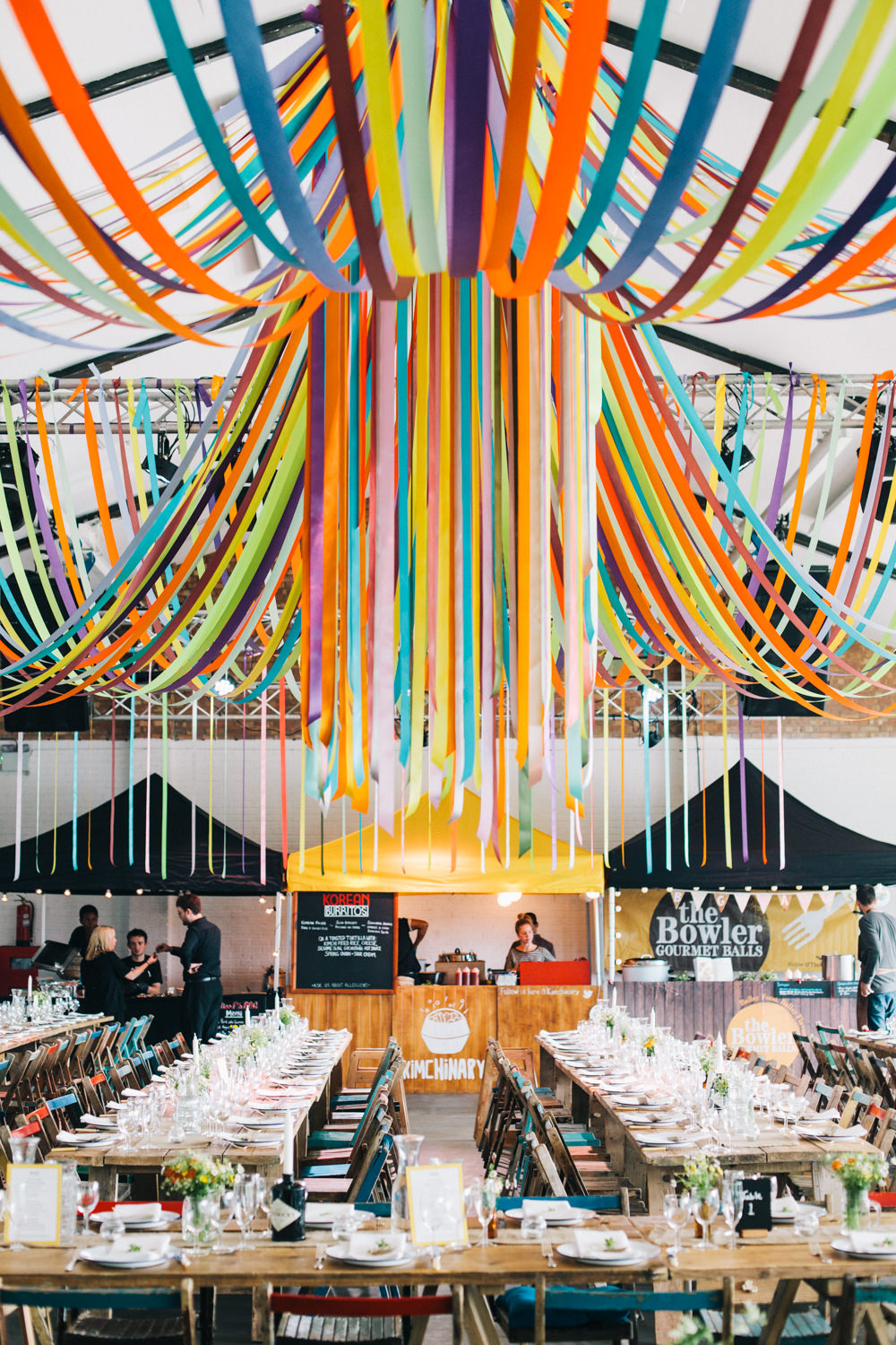 Alternative decor ideas for your wedding rock my wedding for Ceiling streamers
