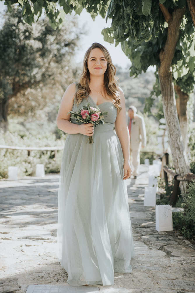 Outdoor pastel pink green destination wedding at agreco for Best outdoor wedding dresses