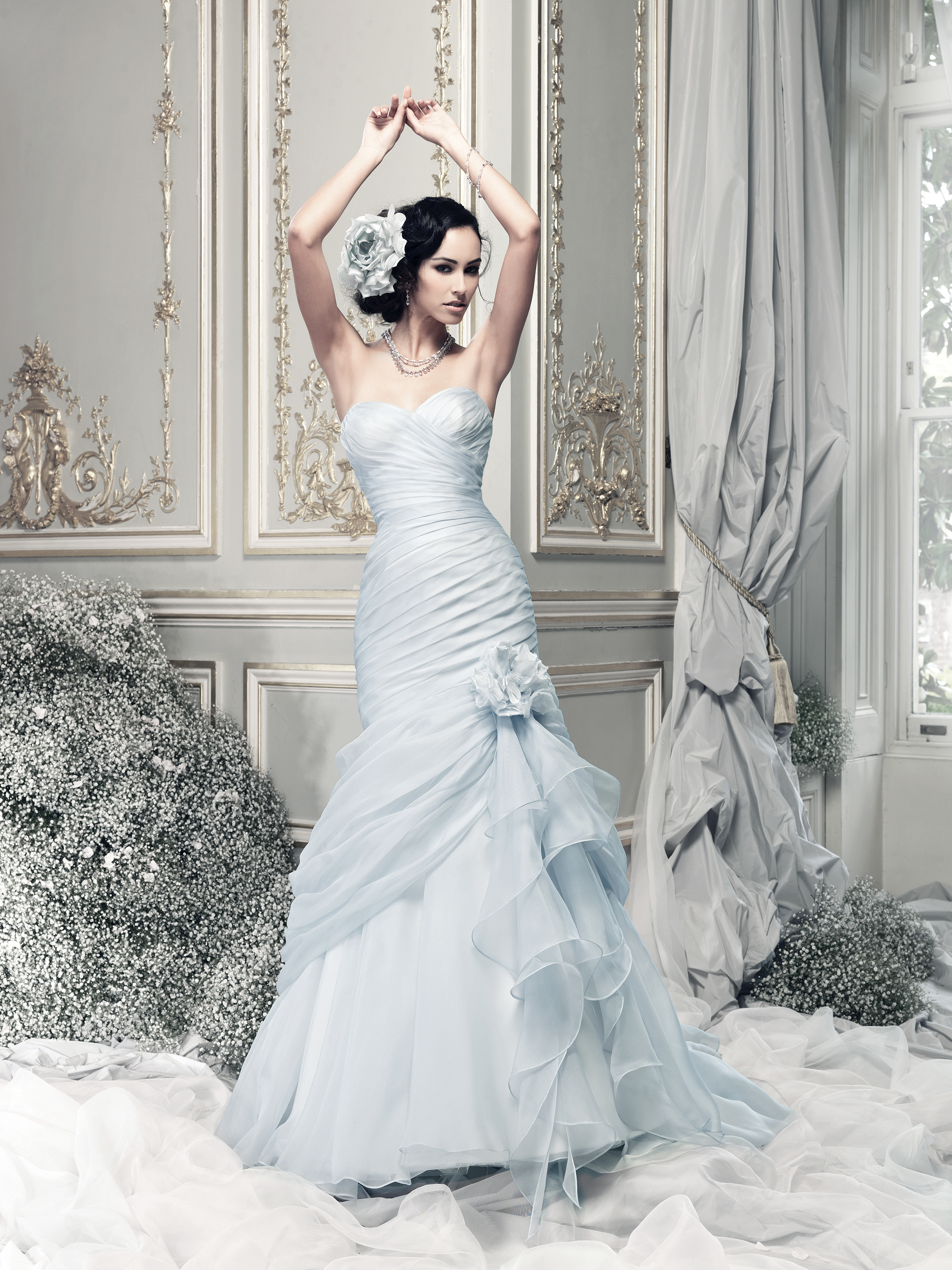 Blue Wedding Gown: Coloured Wedding Dresses From Top UK Bridal Designers