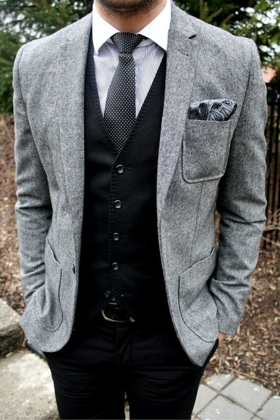 Fashion style trends for grooms 2015 and 2016 - Couleur gris charcoal ...