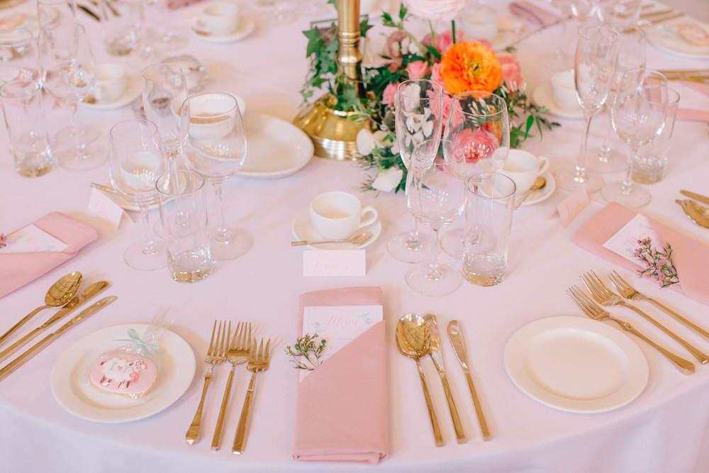 Timeless Ivory Gold Wedding With Scottish Traditions In: Elegant Pink Hued Wedding At Assembly Rooms In Bath By M