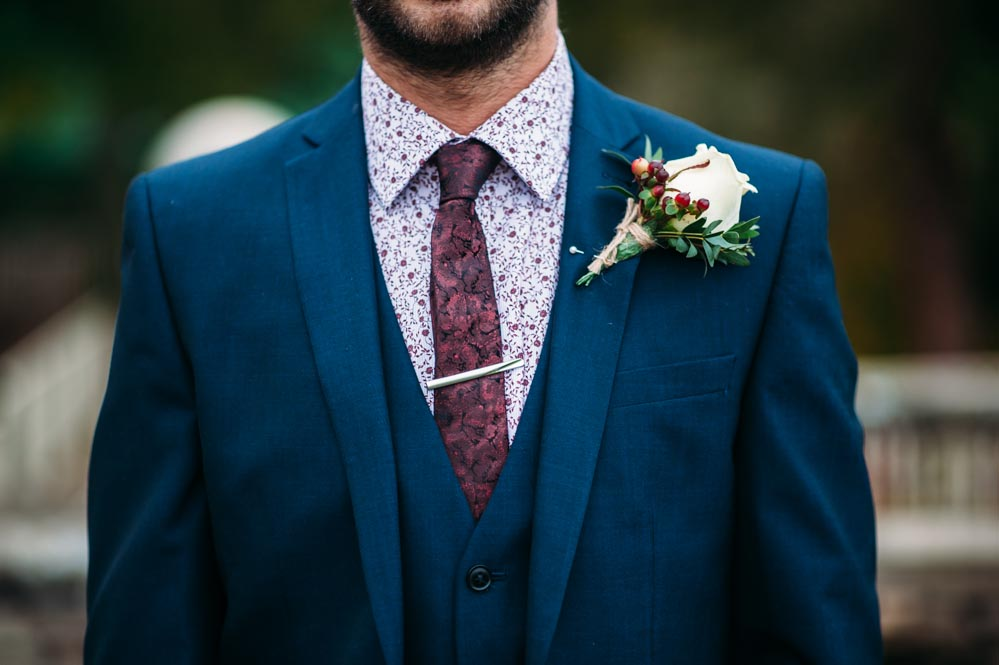 Autumnal Rustic Themed Wedding With Navy Maroon Amp Gold