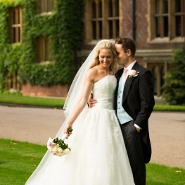 An Elegant London Wedding With Bride In Gown And Veil By