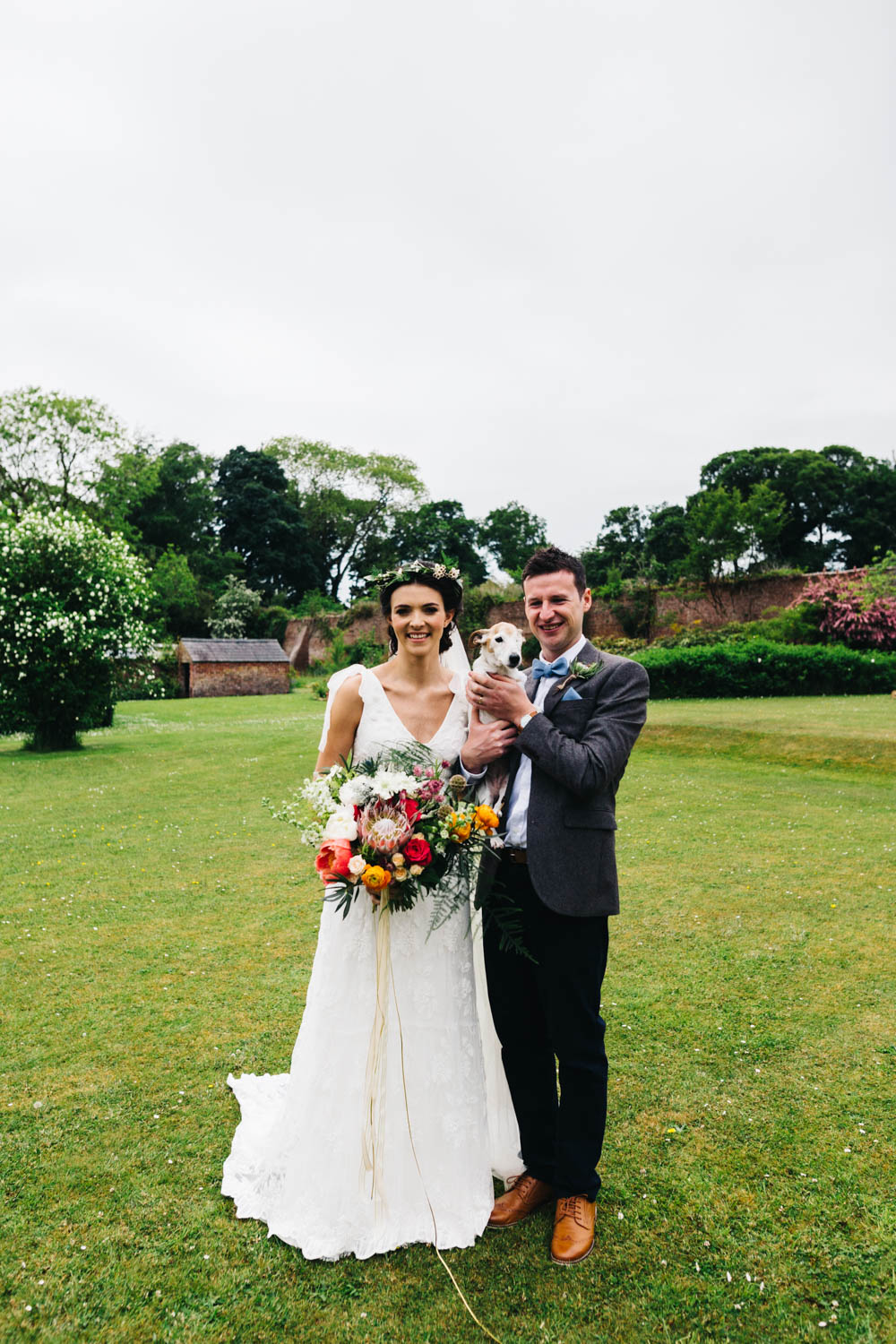 Jess peir bridal gown for an intimate outdoor wedding at bride groom dog ombrellifo Gallery