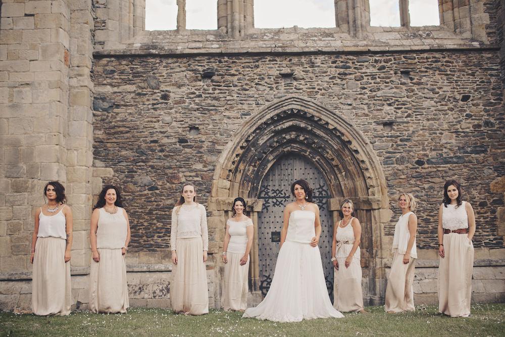 Valle crucis abbey wedding