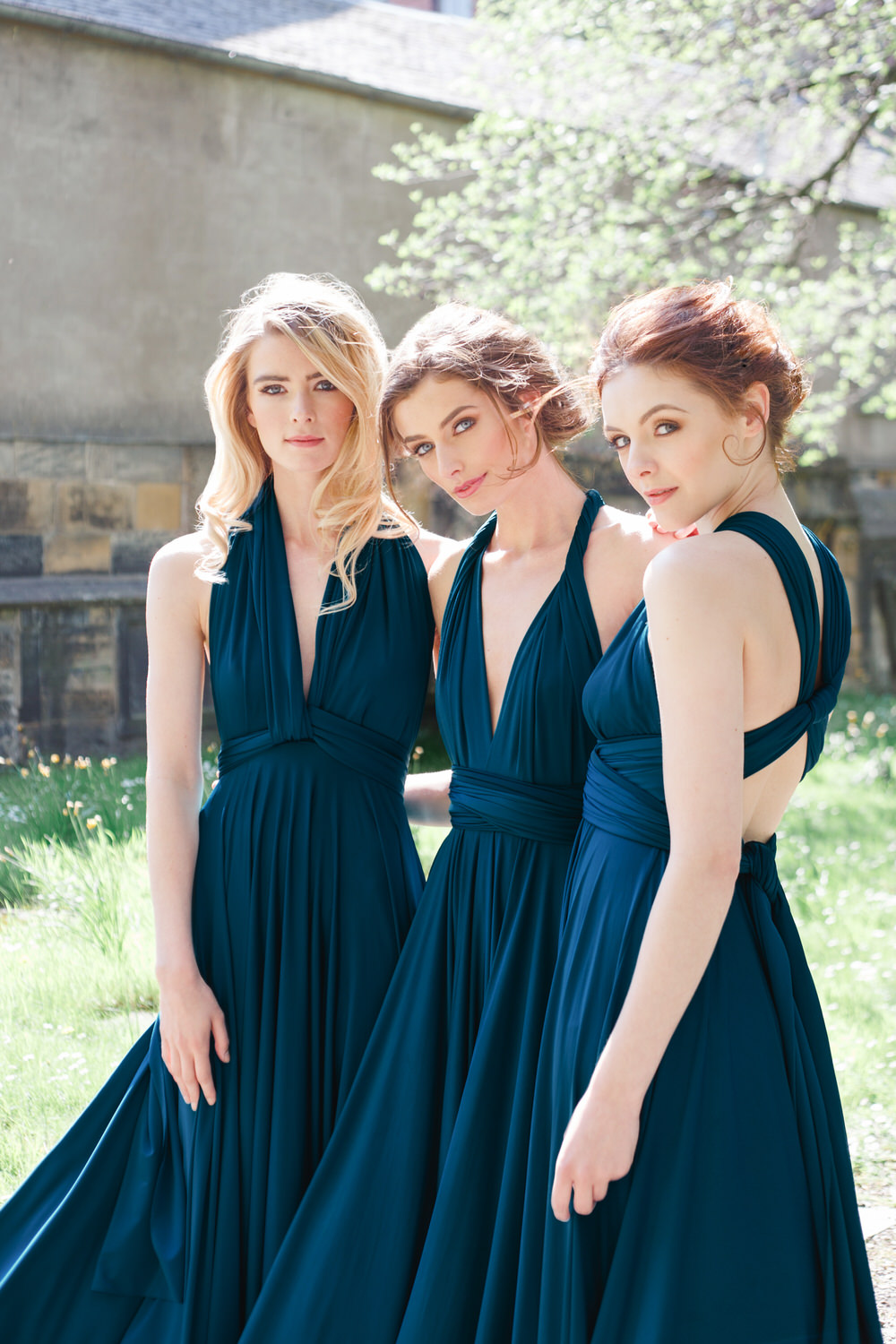 Twobirds rock my wedding uk wedding blog classic multiway dresses in navy ombrellifo Choice Image