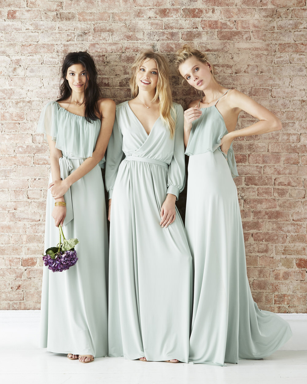 Twobirds rock my wedding uk wedding blog maya margaux zoe from the twobirds party collection in sage green ombrellifo Images