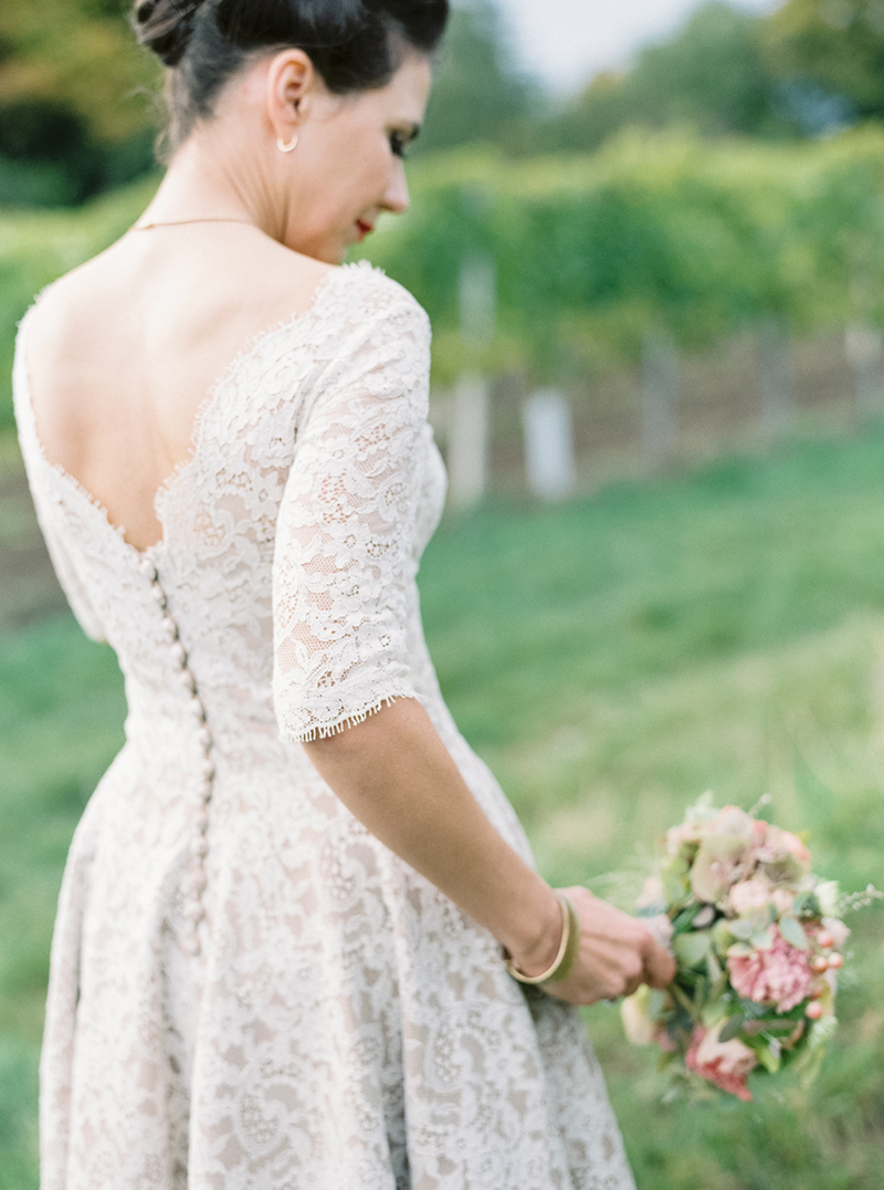 Luxury And Intimate 1950s Style Autumn Wedding In Vienna With A Lena ...