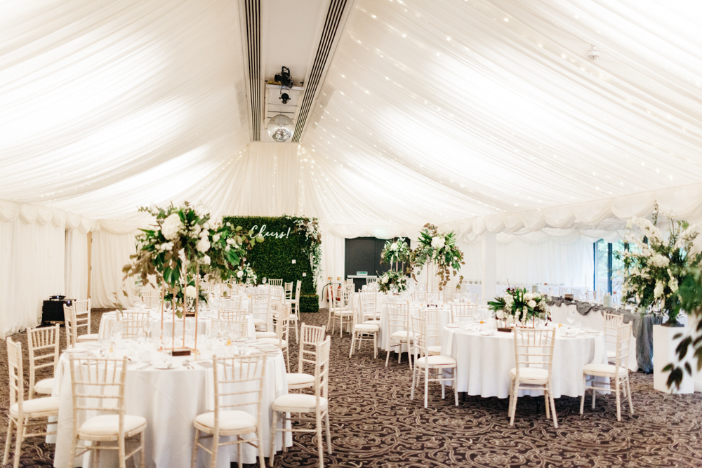 Greenery Amp White Marquee Wedding At The Villa Levens With