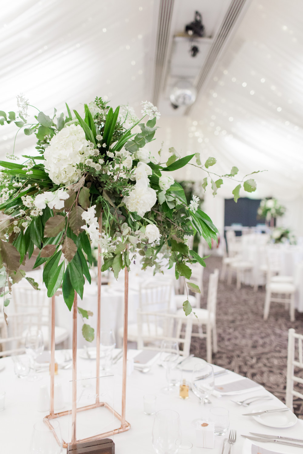 Greenery white marquee wedding at the villa levens with