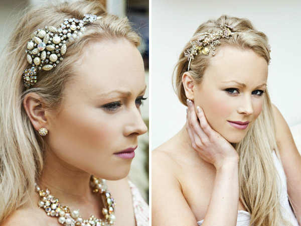 beautiful unique bridal head pieces Created from deconstructed antique