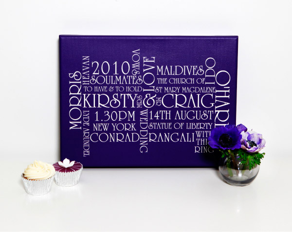 Cadbury Purple Wedding Invitations: Christina's Blog: From A Customer To Match Her Wedding