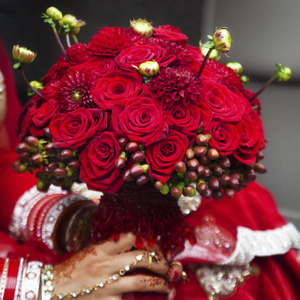 Asian wedding flowers