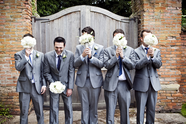 Grooms slate grey suits with a blue tie Archives - ROCK MY WEDDING ...