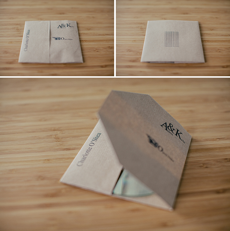 cd cover made from a single sheet of A4 paper D.I.Y Mix C.D. Place Settings / Wedding Favours
