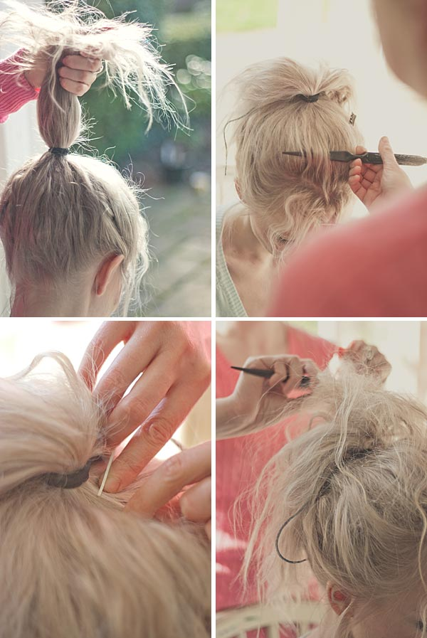 Tutorial Create Messy Textured Bun