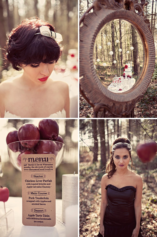 A Bridal Inspiration Shoot inspired by Mirror Mirror and Snow White