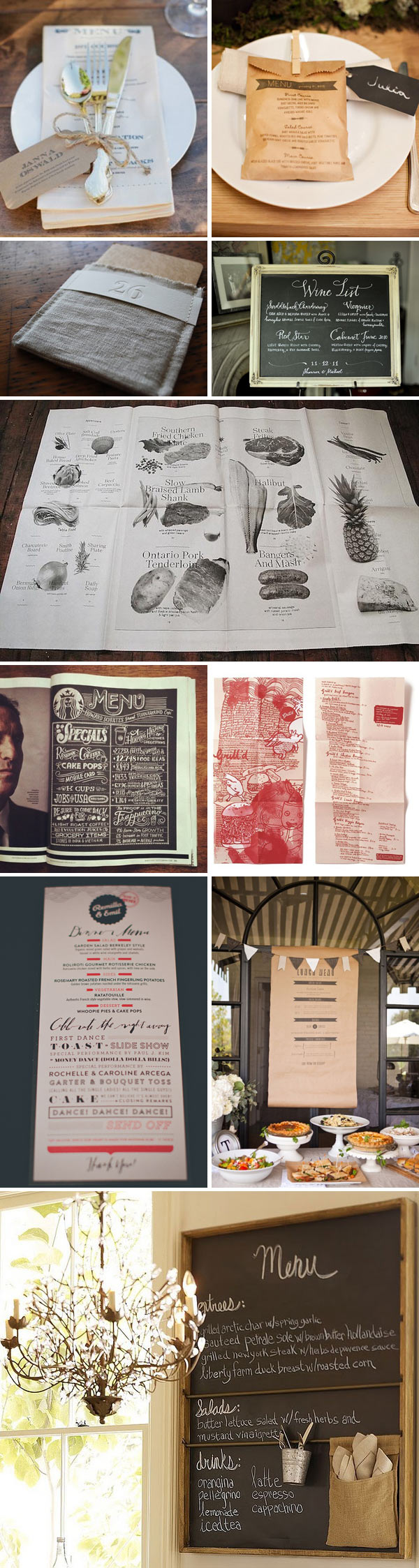 Menu Moodboard 1 Good Enough To Eat.