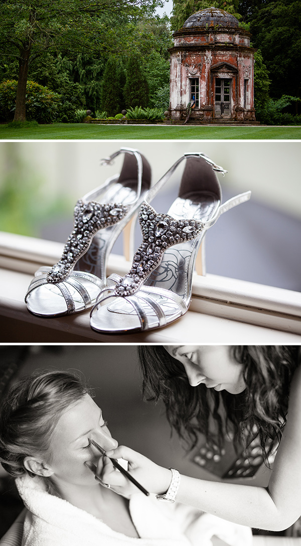 Embellished wedding shoes