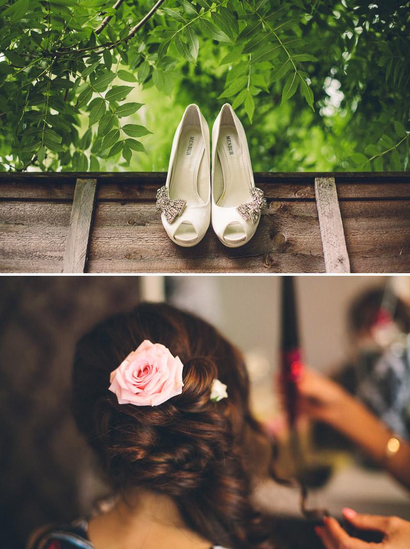 Bridal Wedding Hair Roses