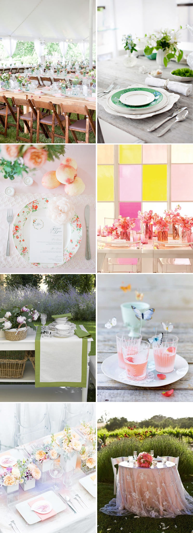 A Pastel Pantry Spring Table Setting Wedding