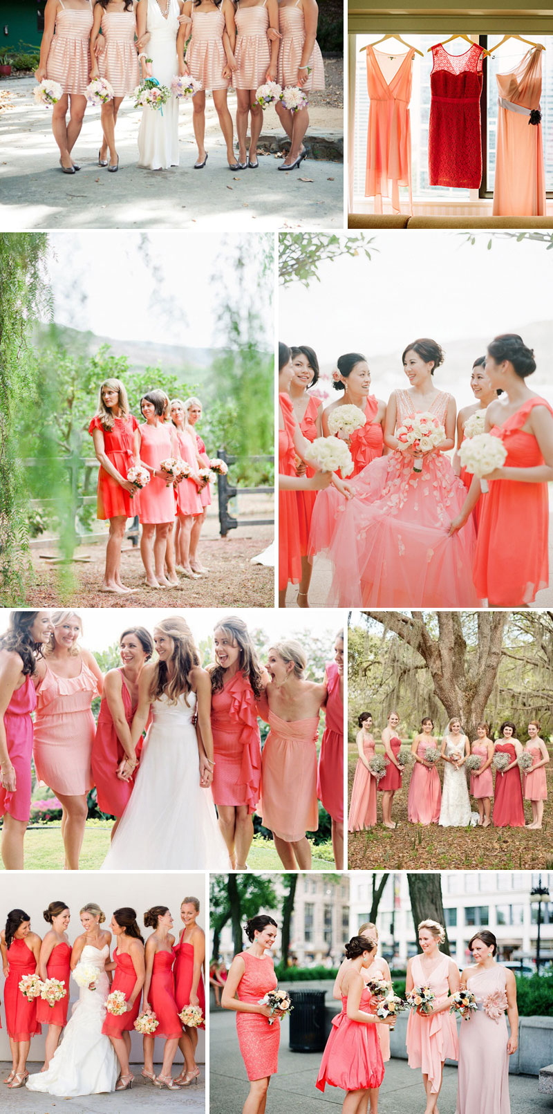 Coral Blush Pink Bridesmaid Dresses Palette