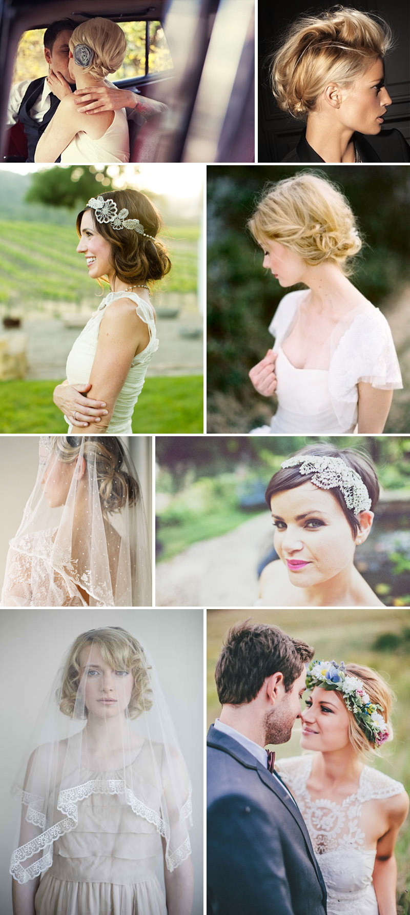 Short and Sweet Wedding Hair Inspiration