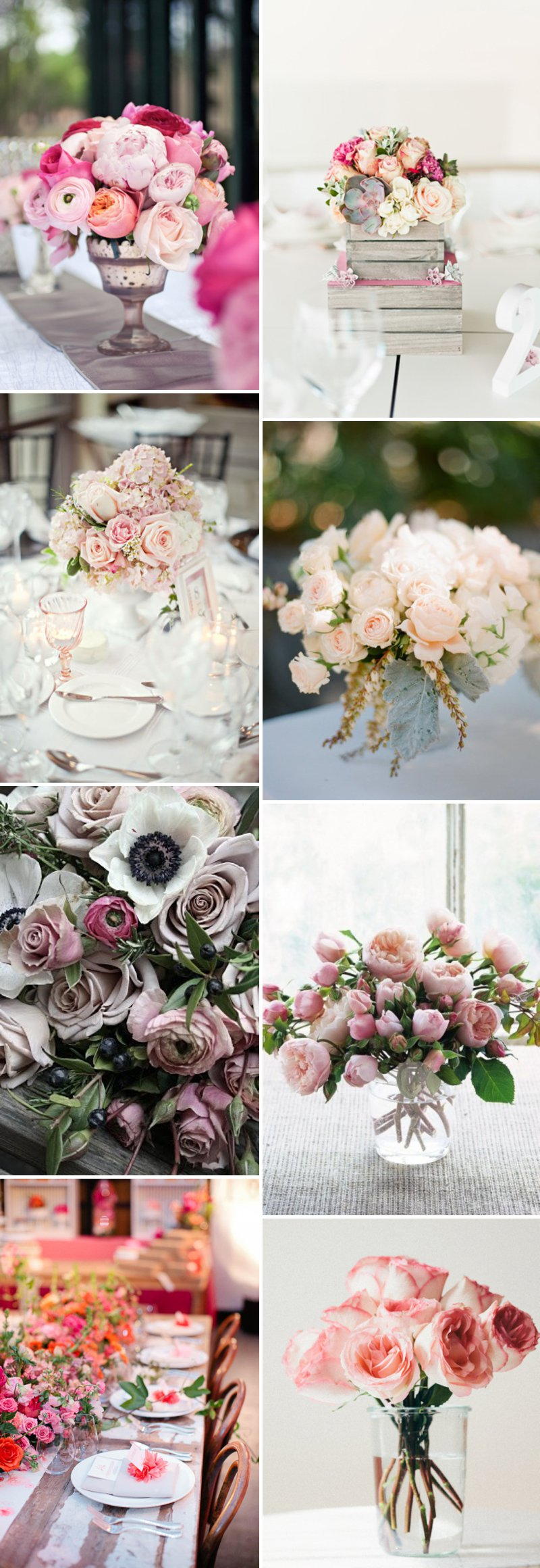 Roses Wedding Centerpieces Centrepieces Romantic