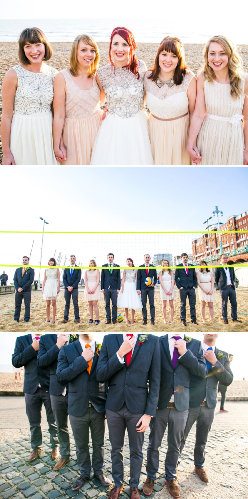 Mismatched Bridesmaids Neutral Cream Gold Metallic