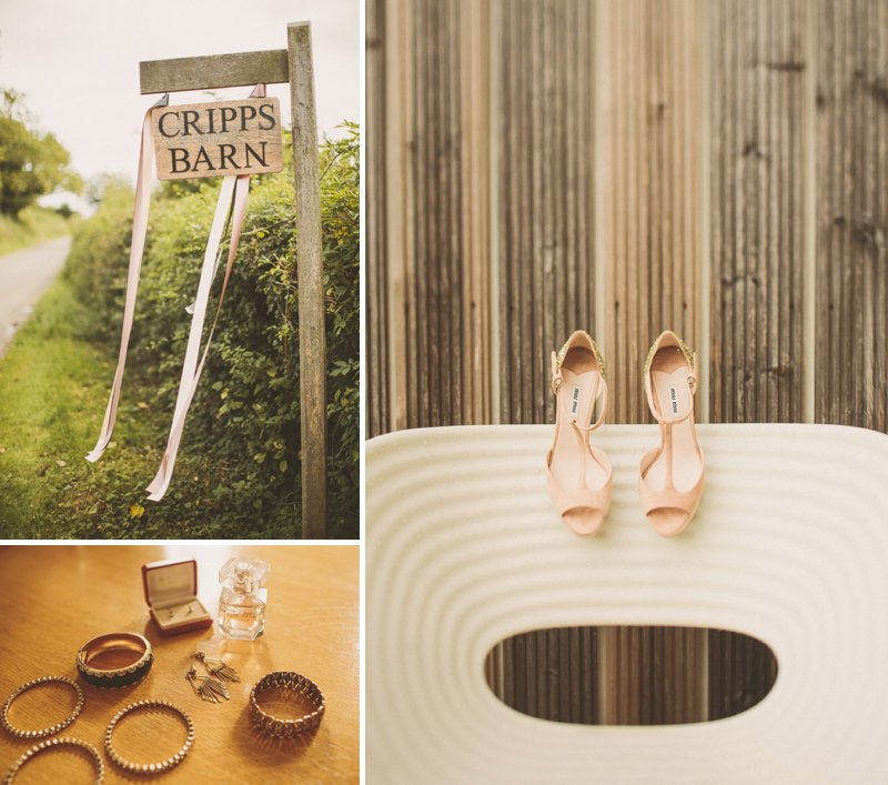 Cripps Barn Wedding Venue Cotswolds UK Miu Miu Nude Wedding Shoes