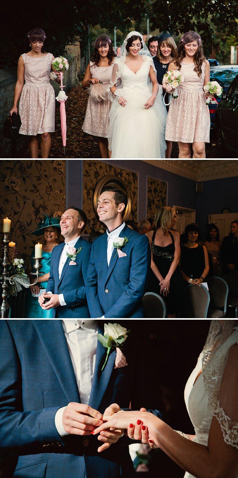 Lusan Mandongus Bridal Gown Peach Pink Bridesmaid Dresses