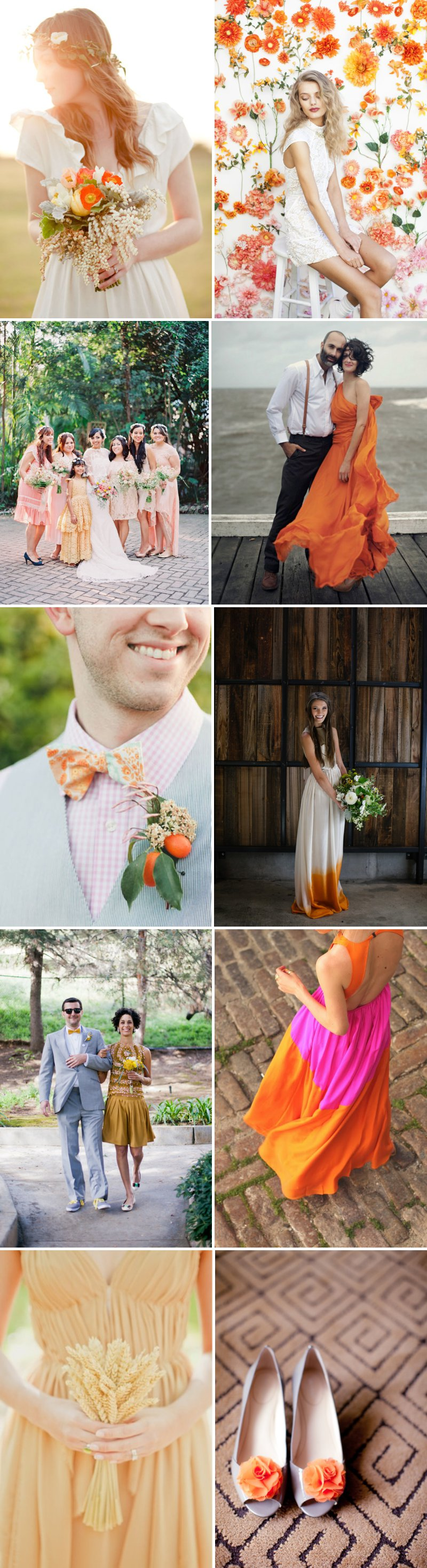 Grapefruit Girls Orange Wedding Outfit Dress
