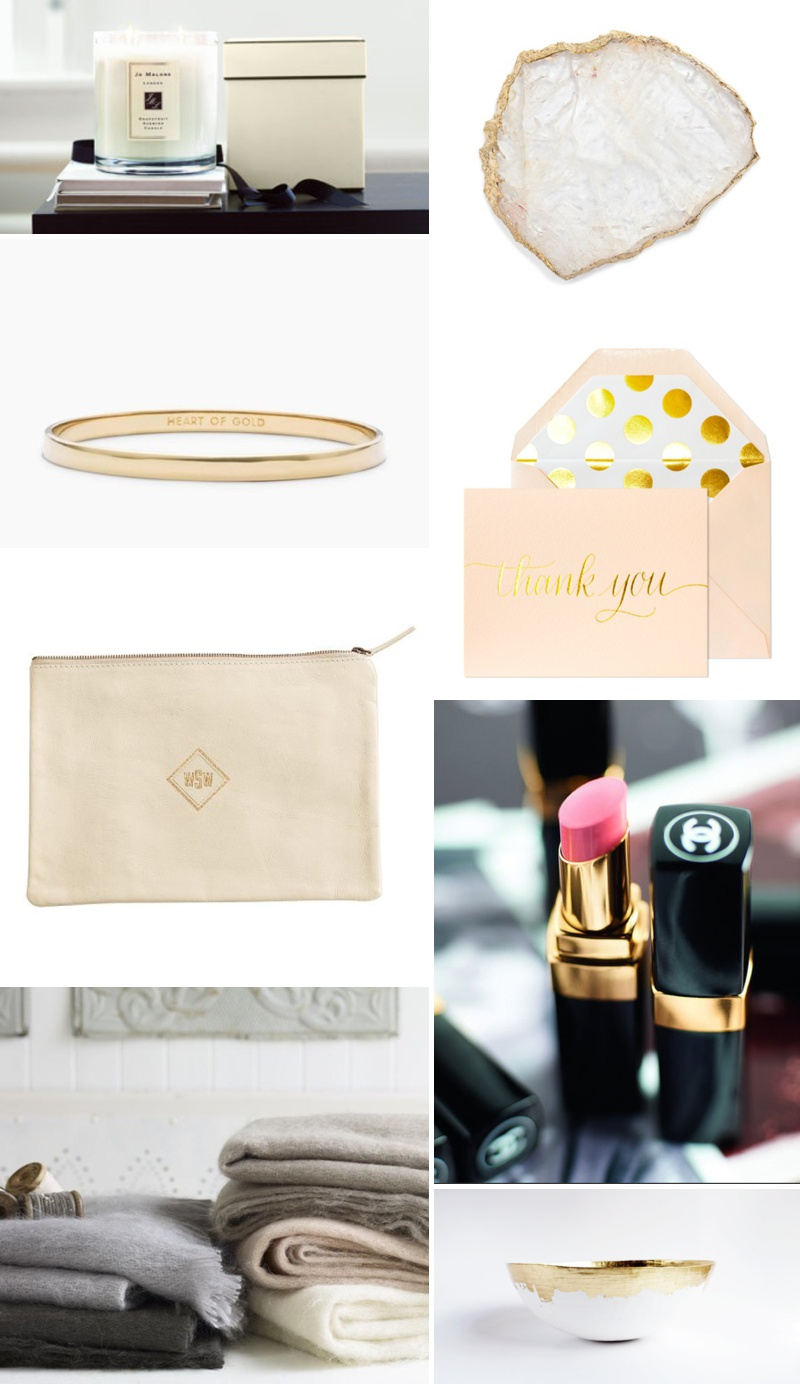 Mother Of The Bride Gift Inspiration Chanel Lipstick Mohair Blanket Kate Spade Bracelet Jo Malone Candle