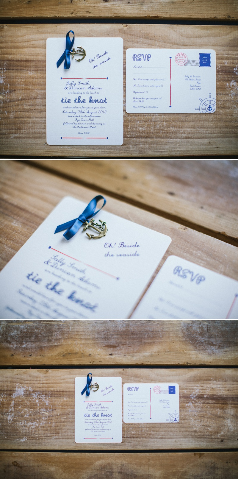 Wedding In A Teacup Nautical Seaside Stationery