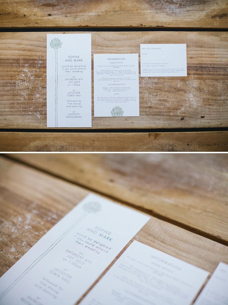 Golden Apple Designs Wedding Stationery Botanical Inspired