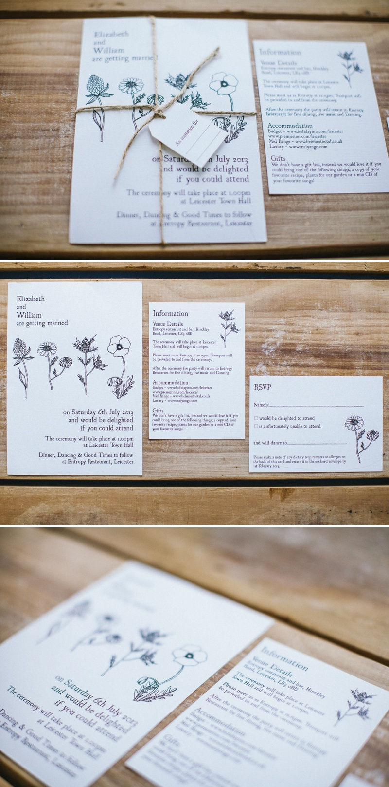 Golden Apple Designs Wedding Stationery Rustic