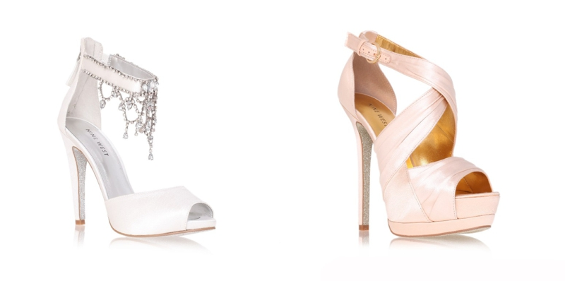 Nine West Nude Wedding Shoes