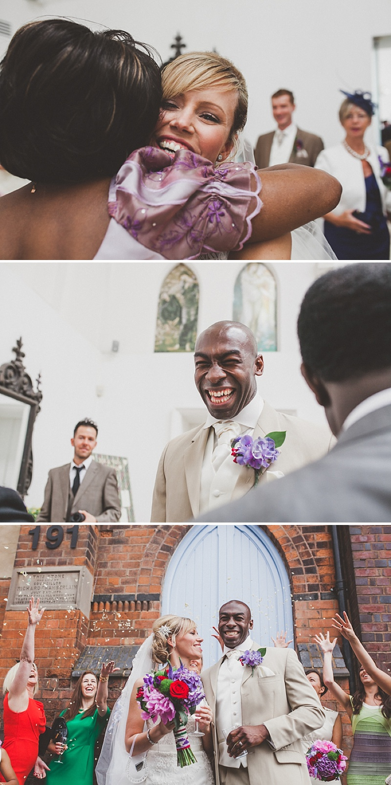 A Colourful Contemporary Wedding At Fazeley Studios, Digbeth, Bride in Justin Alexander Gown, Photography by Jordanna Marston_0009