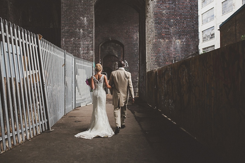 A Colourful Contemporary Wedding At Fazeley Studios, Digbeth, Bride in Justin Alexander Gown, Photography by Jordanna Marston_0015