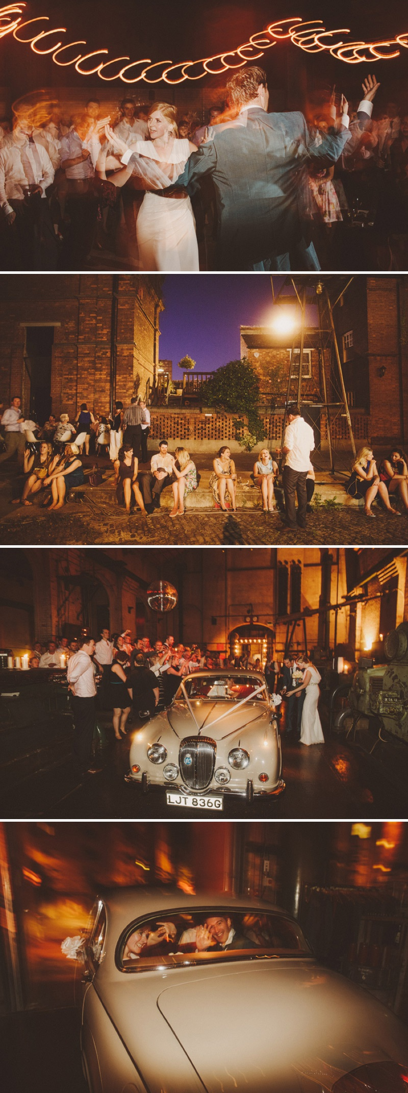 A hip city wedding held at an power station art gallery in East London with a Cymbeline 1930s inspired dress and a white rose bouquet with photography by Ed Peers._0021