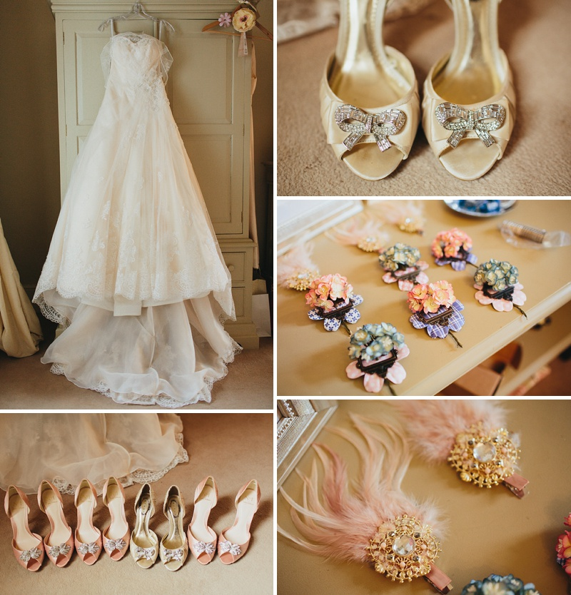 A non traditional wedding at Preston Court with an Essence of Australia wedding dress and vintage retro shabby chic scheme_0001