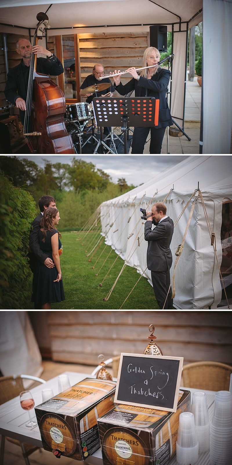 An Understated and elegant wedding with white colour scheme, marquee, fairy lights, trestle tables and rustic touches_0018