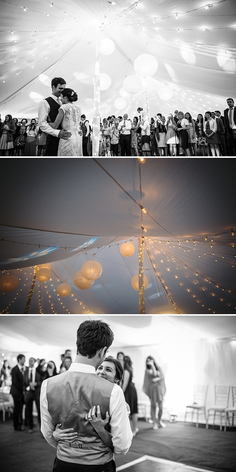 An Understated and elegant wedding with white colour scheme, marquee, fairy lights, trestle tables and rustic touches_0020