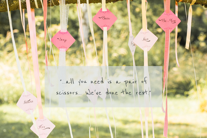 DIY Hanging Decor Wedding Table Stationery