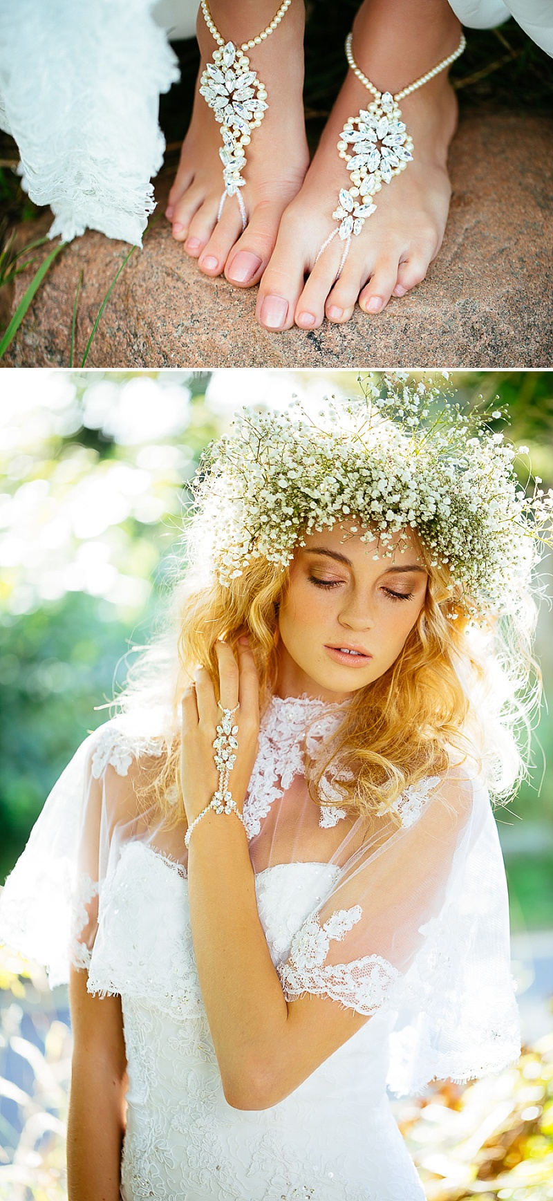 5f538e00d34 A Boho Earth Child Themed Bridal Inspiration Shoot Gowns by Diane Harbridge  Images from Phil Drinkwater