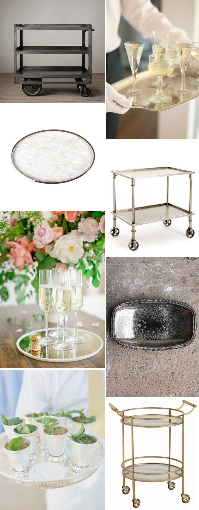 An idea packed inspiration post showing you how to make a glamorous and chic bar cart for your home and wedding_0001